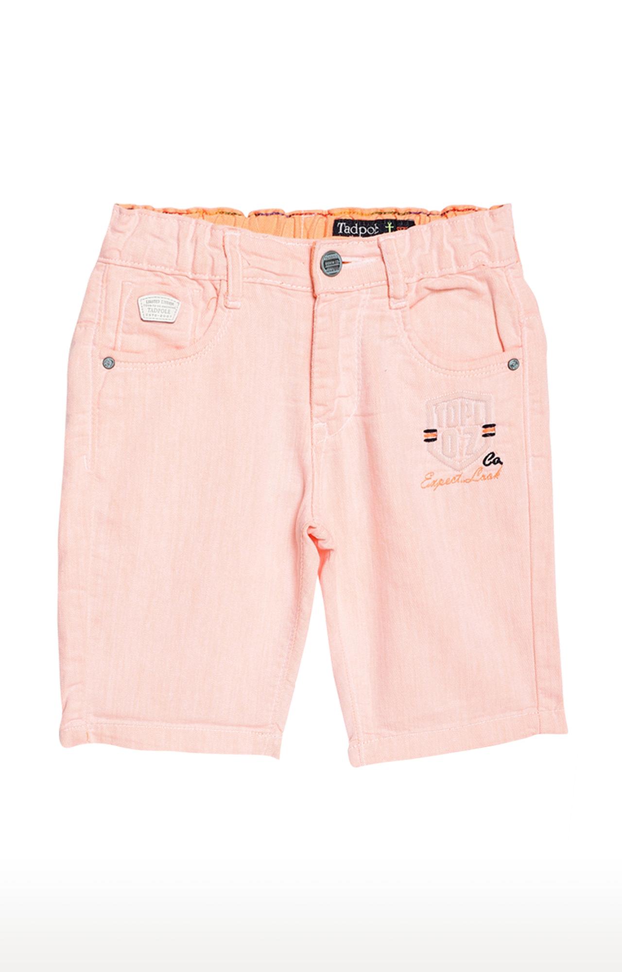 Tadpole | Peach Solid Casual Shorts
