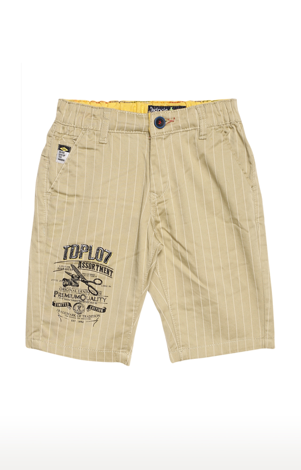 Tadpole | Beige Striped Casual Shorts