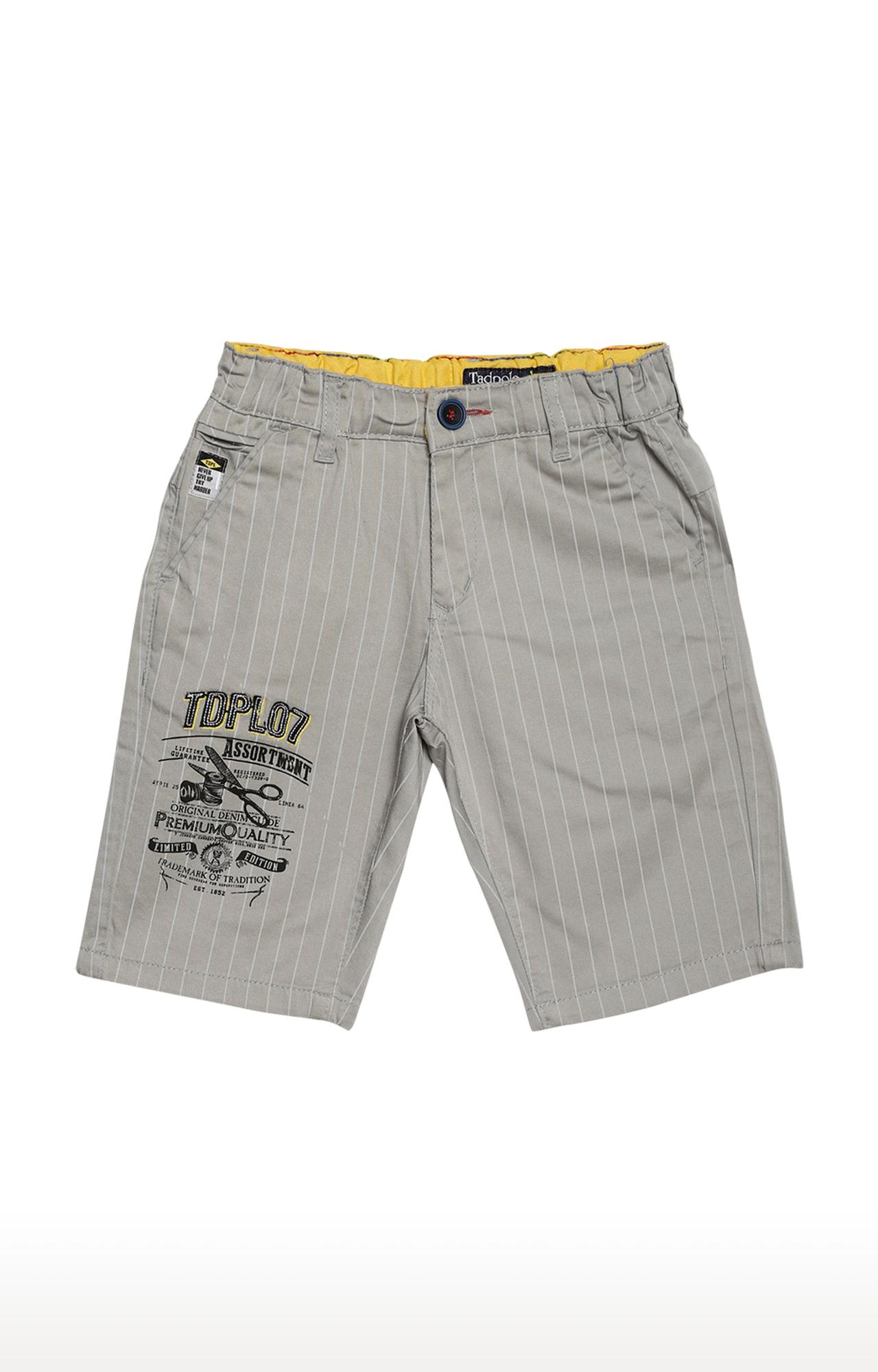 Tadpole | Grey Striped Casual Shorts