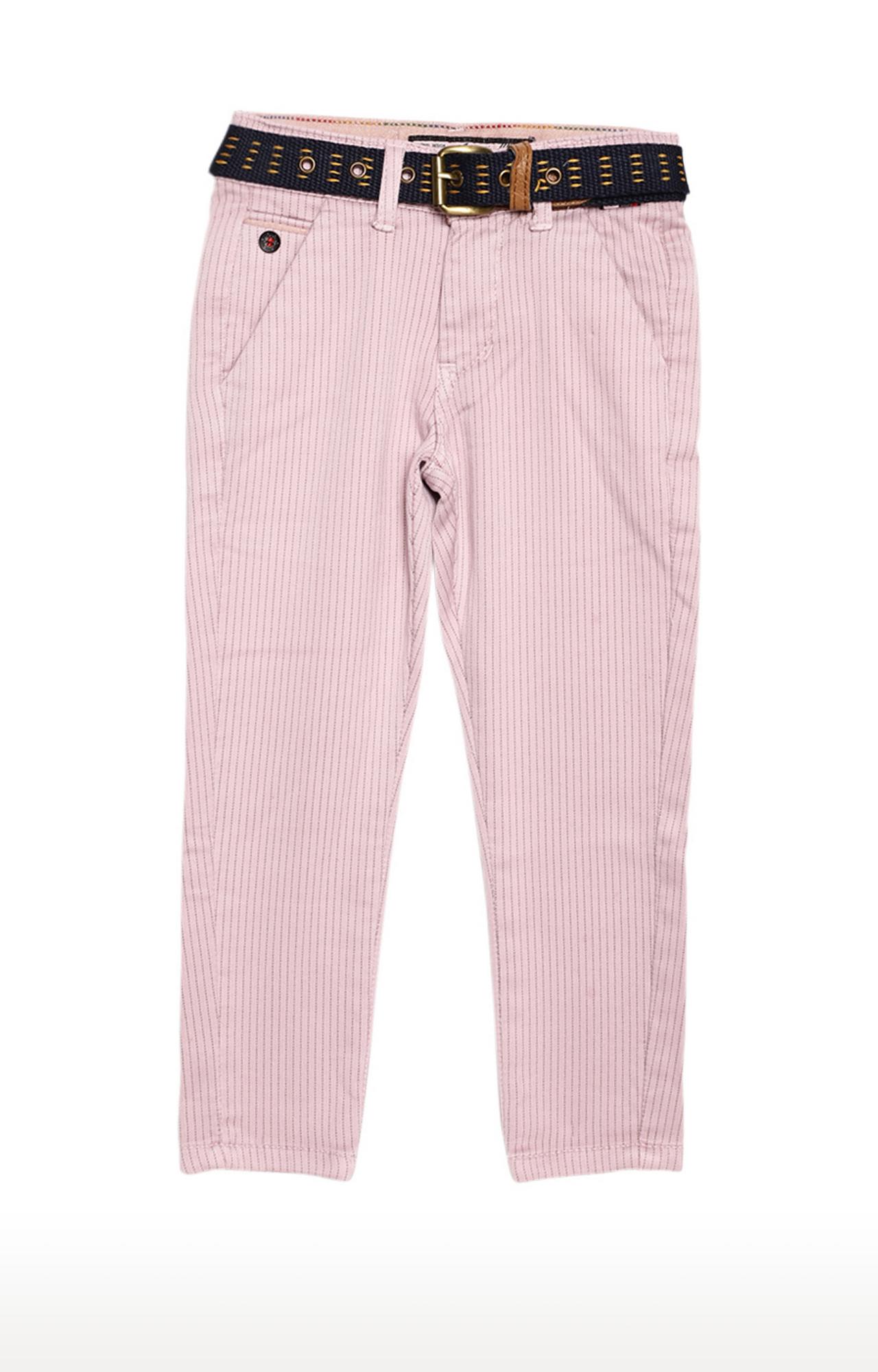 Tadpole | Pink Striped Regular-Fit Jeans