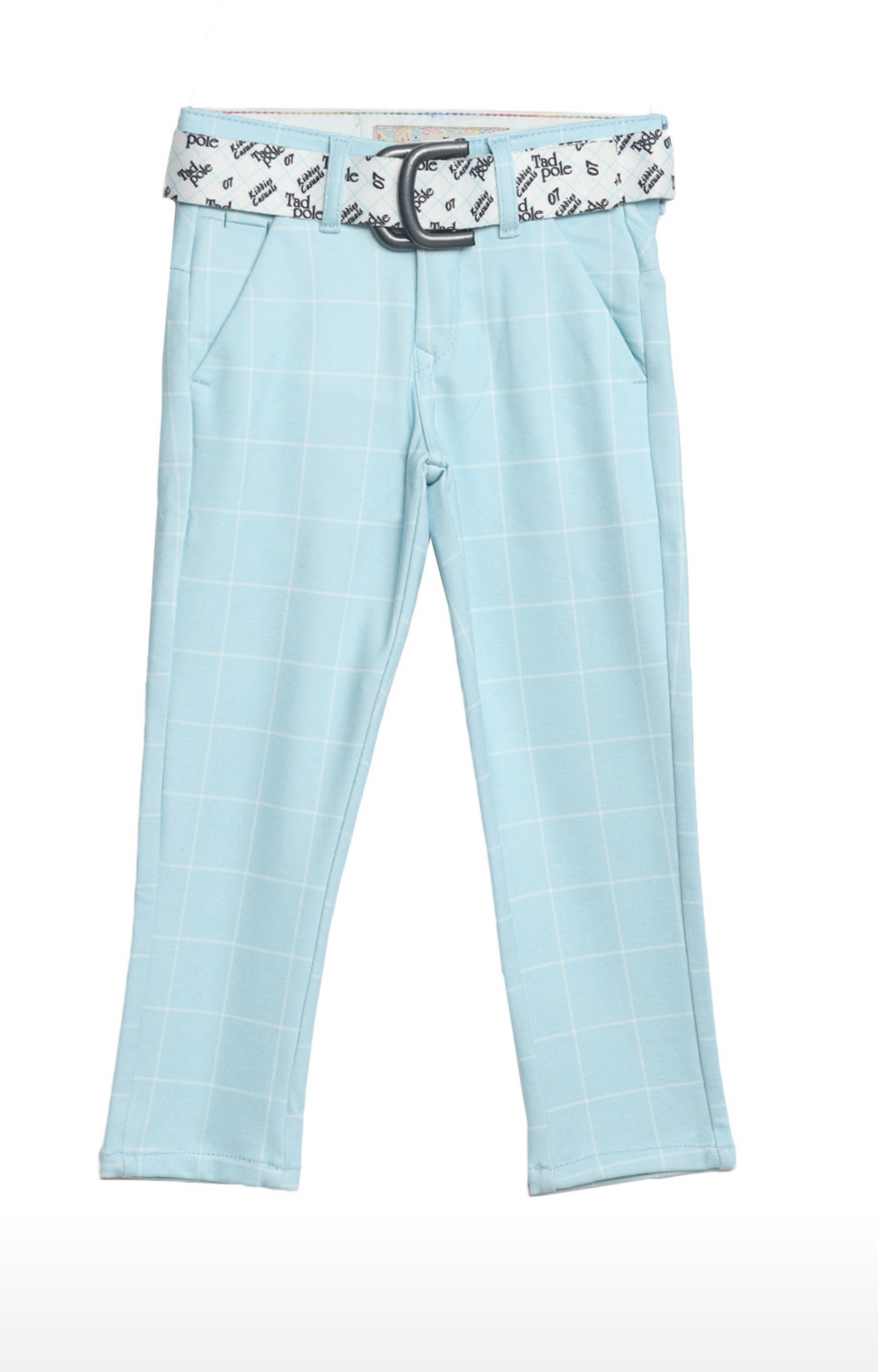 Tadpole   Blue Checked Regular-Fit Jeans