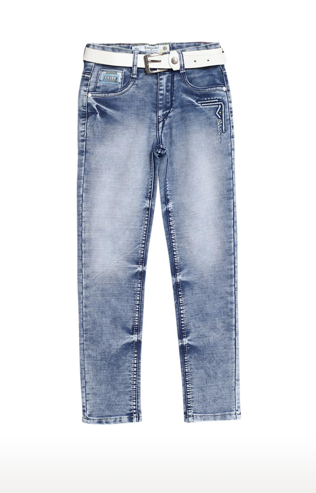 Tadpole | Blue Solid Regular-Fit Jeans