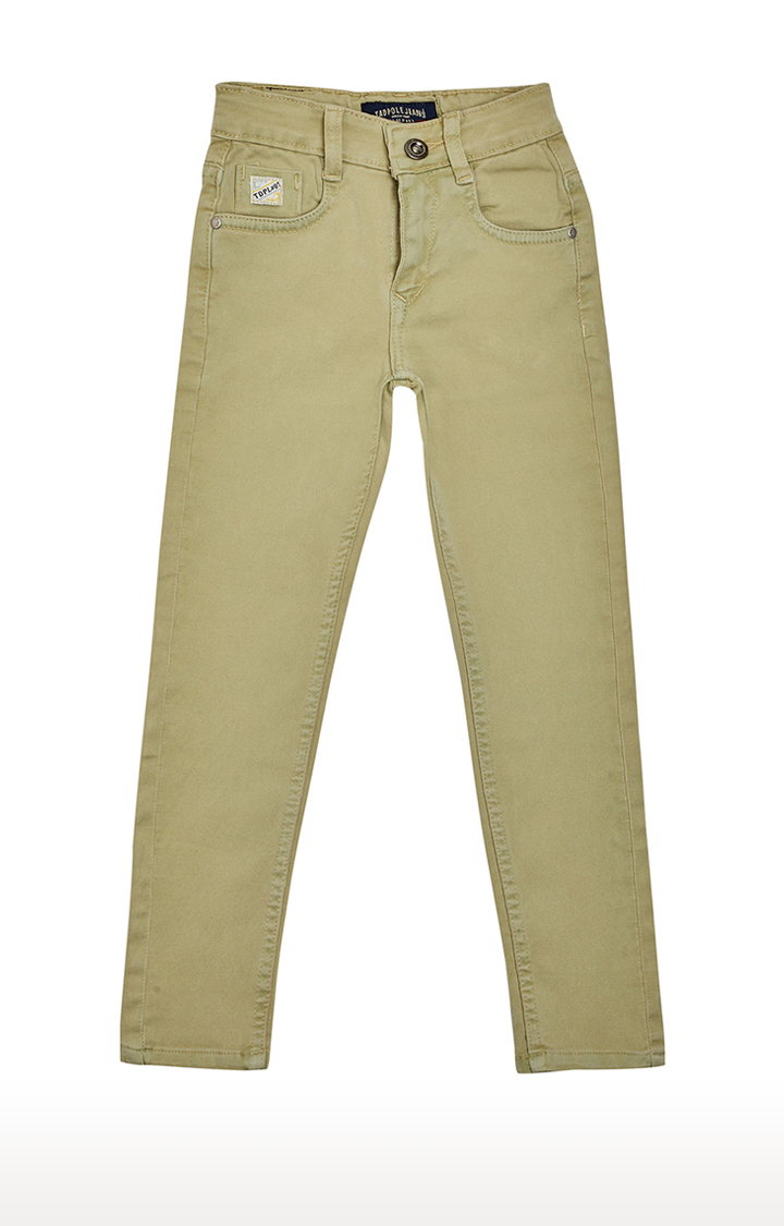 Tadpole | Beige Solid Jeans