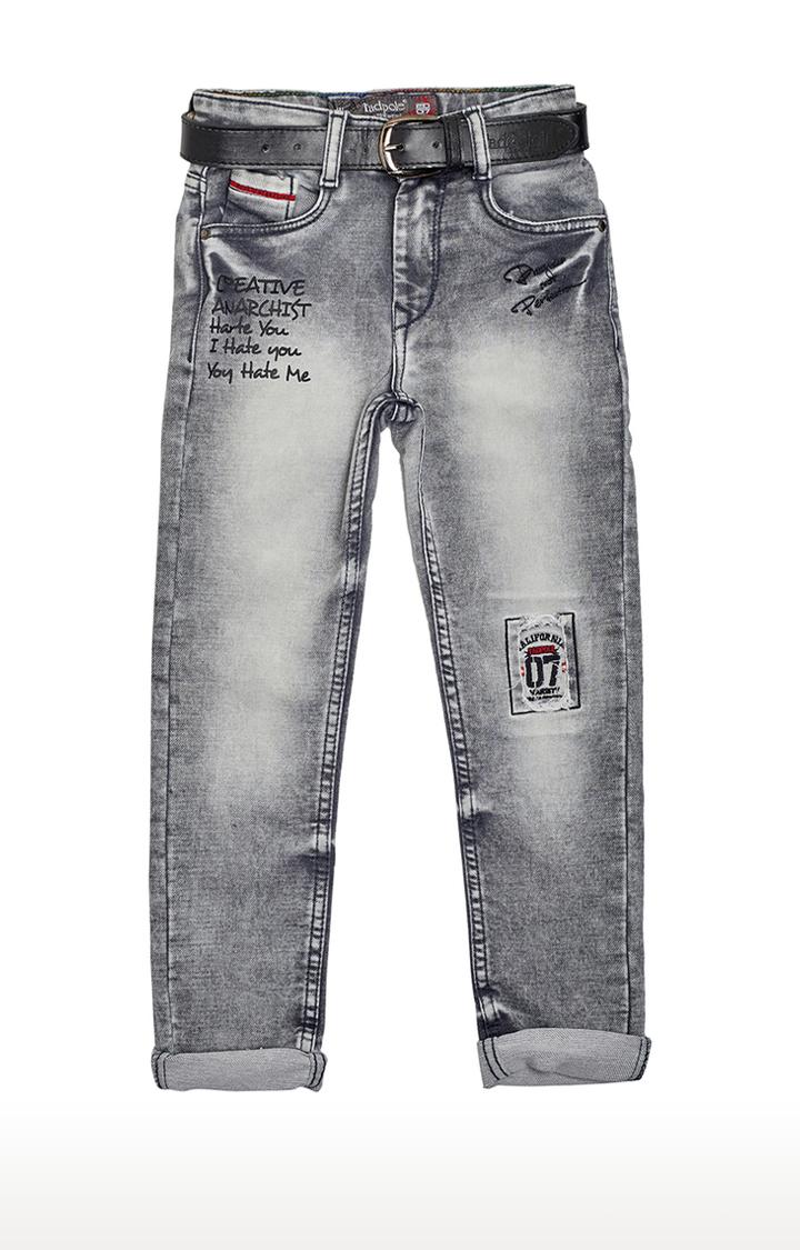 Tadpole   Grey Printed Jeans