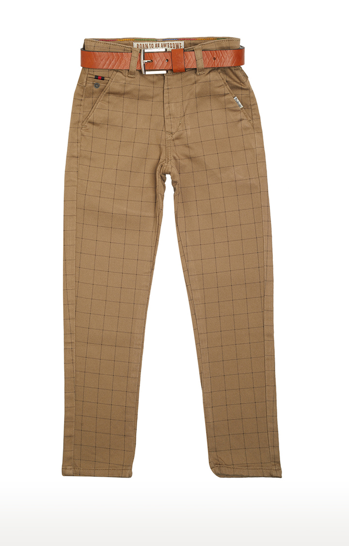 Tadpole | Brown Checked Trousers