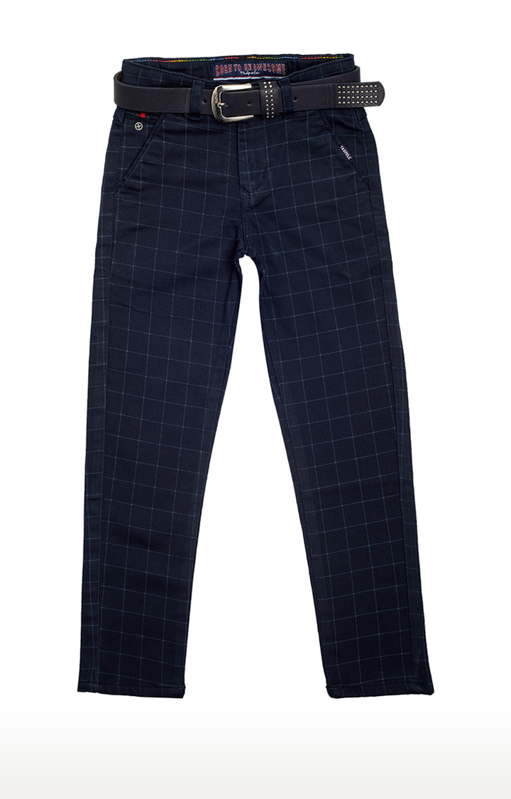 Tadpole | Blue Checked Trousers