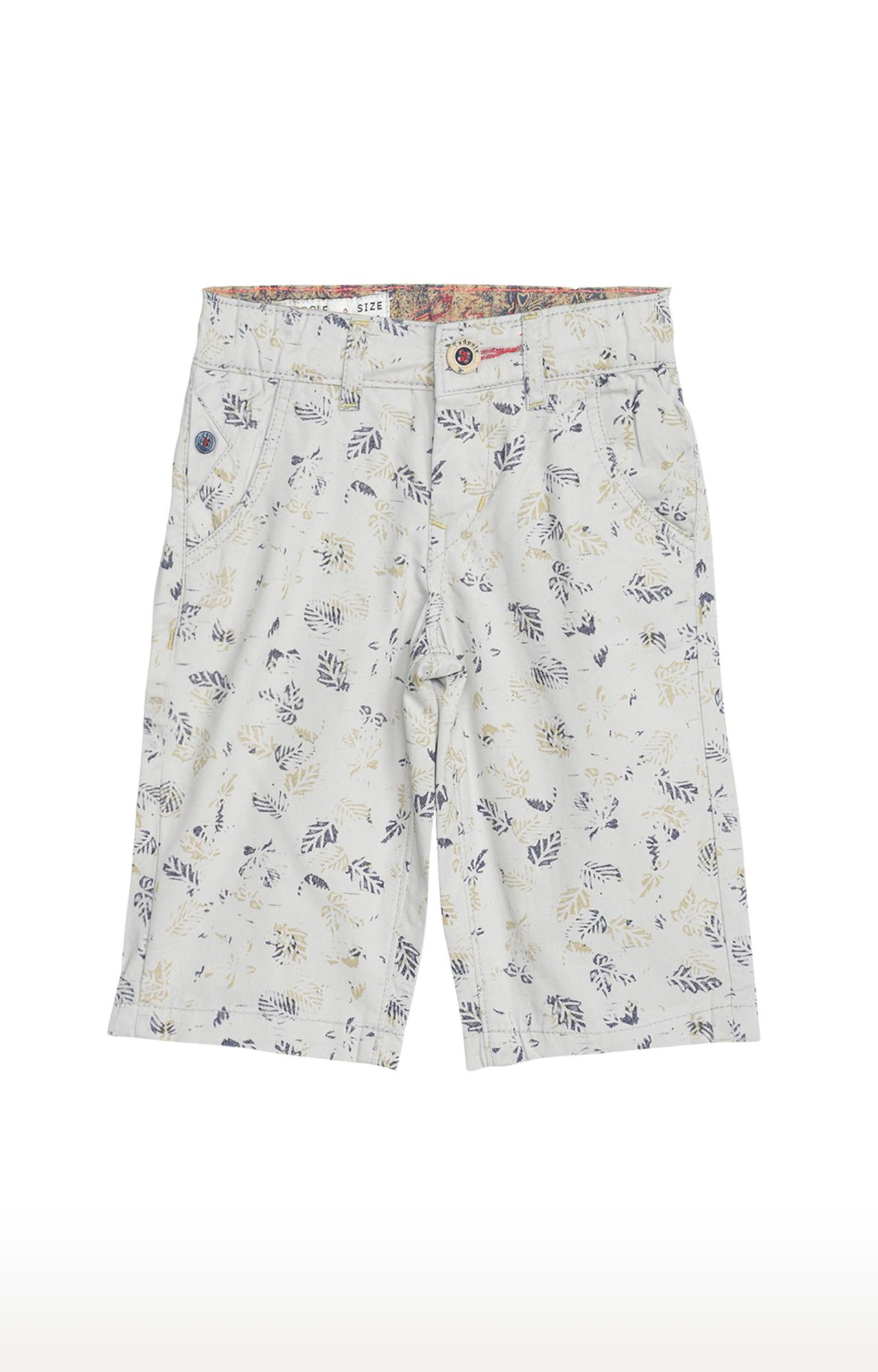 Tadpole | Grey Printed Casual Shorts