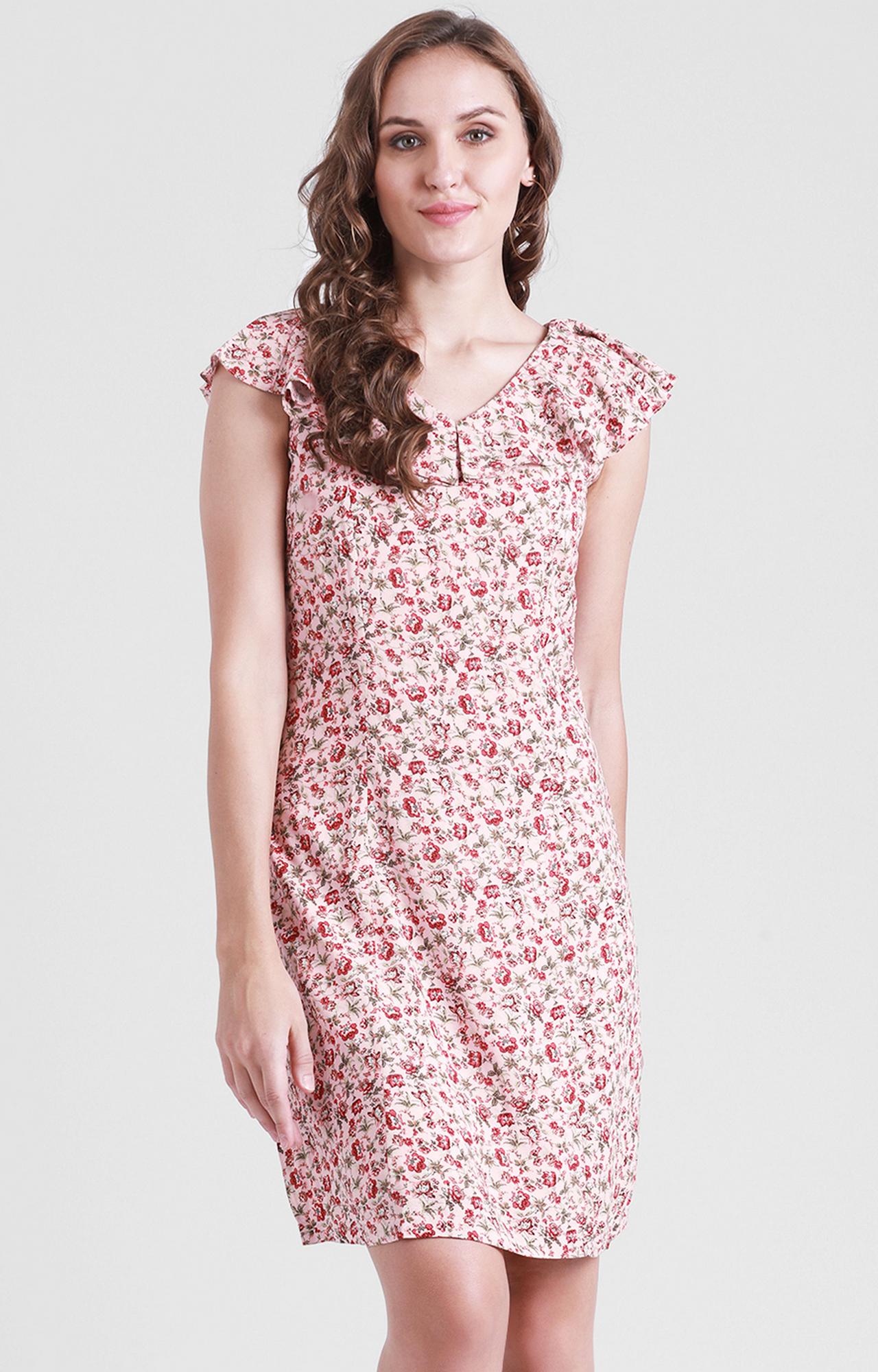 Zink London | Pink Printed Shift Dress
