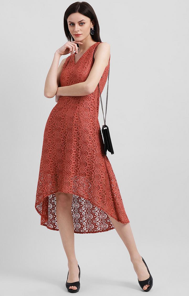 Zink London | Red Printed Asymmetric Dress