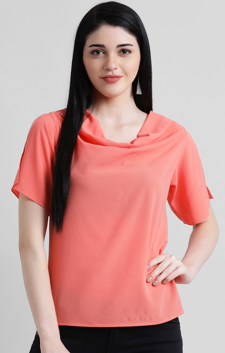 Zink London   Peach Solid Top