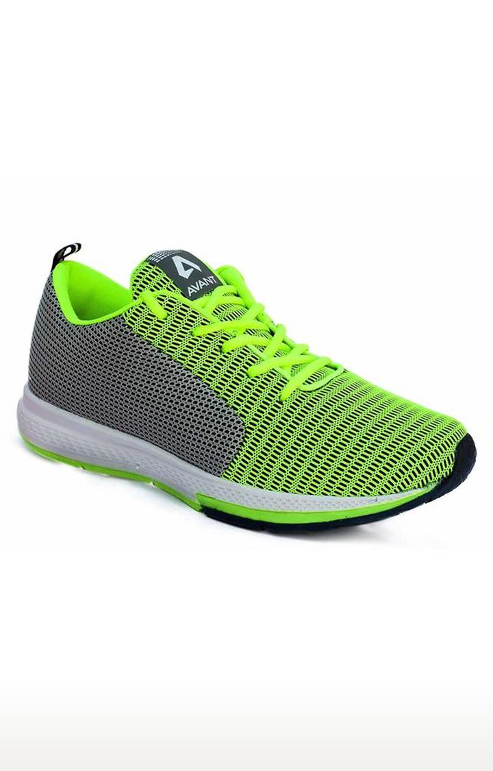 Avant | Parrot Green and Grey Lightweight Running Shoes