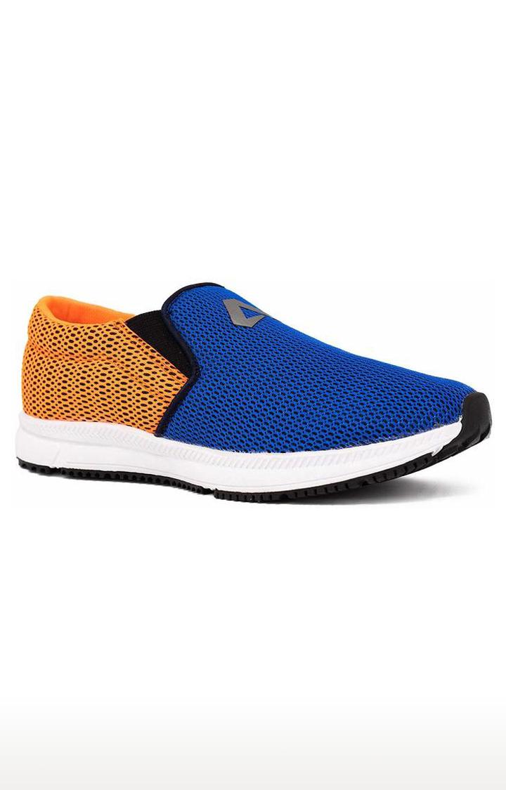 Avant   Navy and Orange Dual Mesh Running Shoes