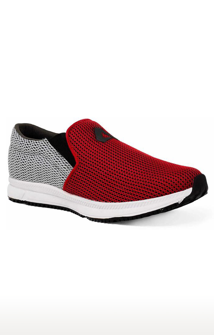 Avant | Red and Grey Dual Mesh Running Shoes
