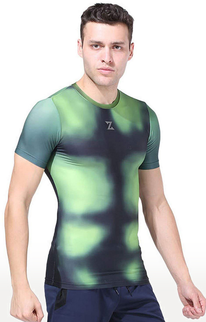 Azani   Green Printed Compression Tops