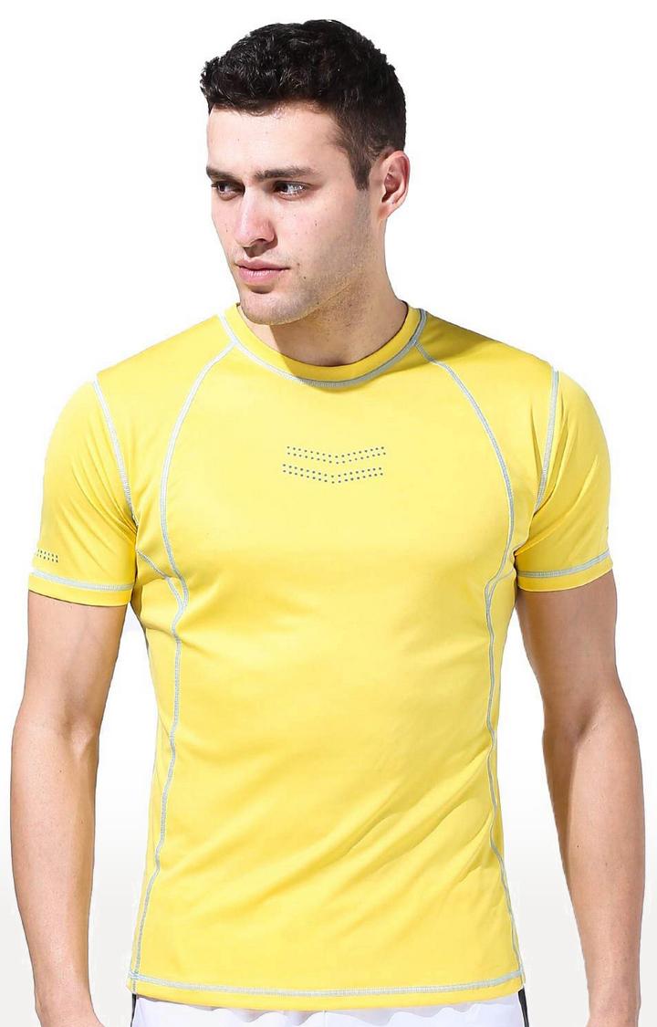 Azani   Yellow Printed T-Shirt