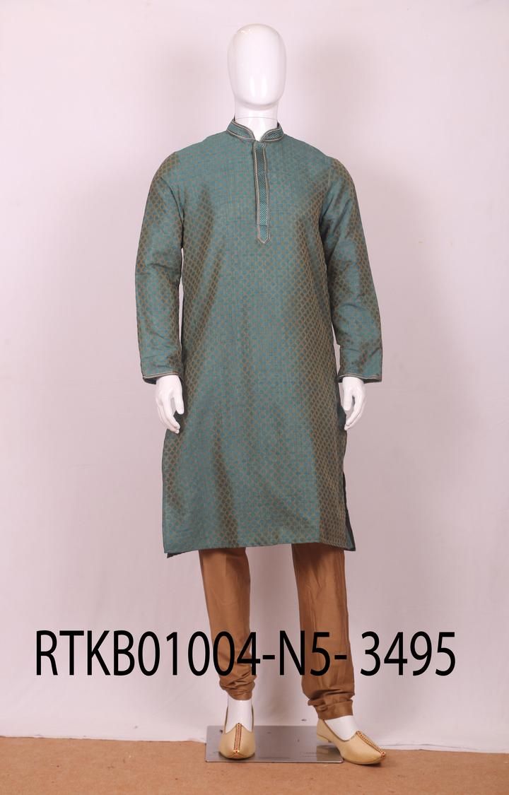 Ethnix by Raymond | Ethnix By Raymond Medium Green Kurta With Churidar