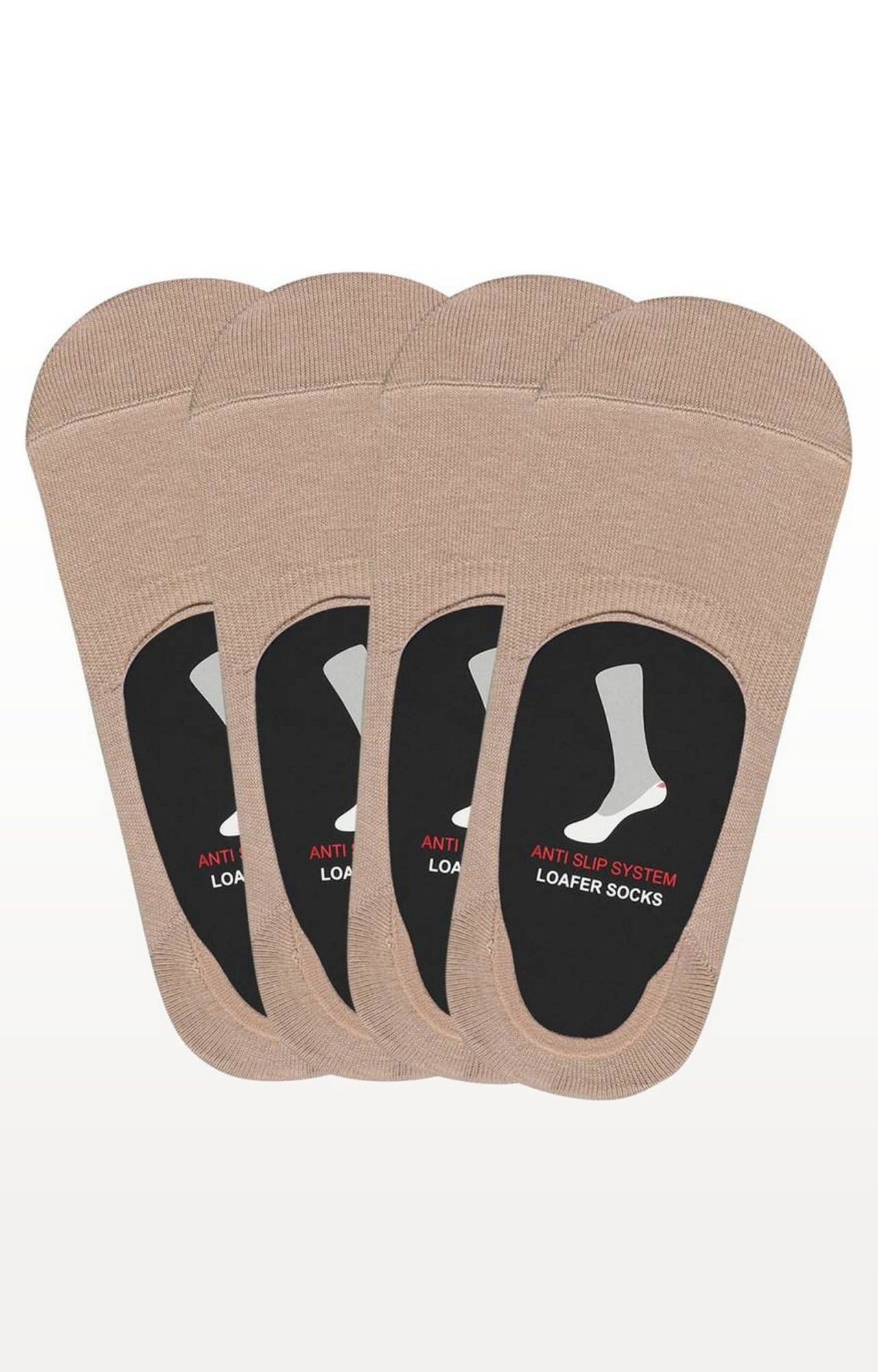 BALENZIA | Beige Solid Socks - (Pack of 4)