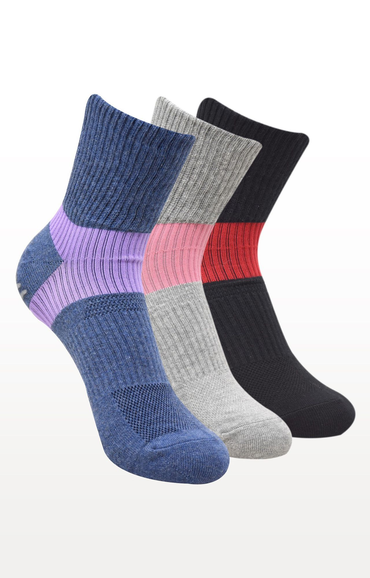BALENZIA | Multicoloured Solid Socks - (Pack of 3)