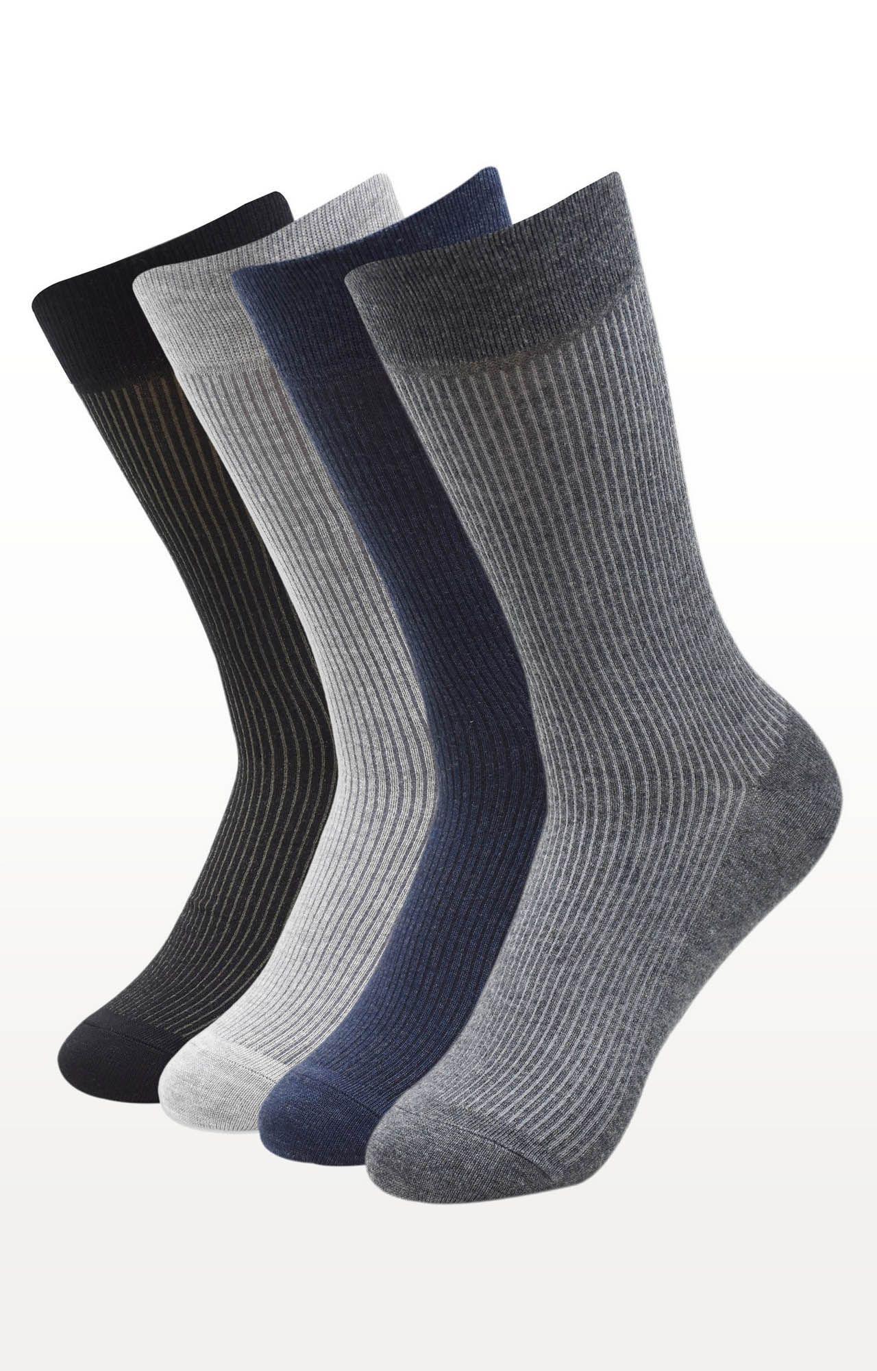 BALENZIA | Multicoloured Striped Socks - (Pack of 4)