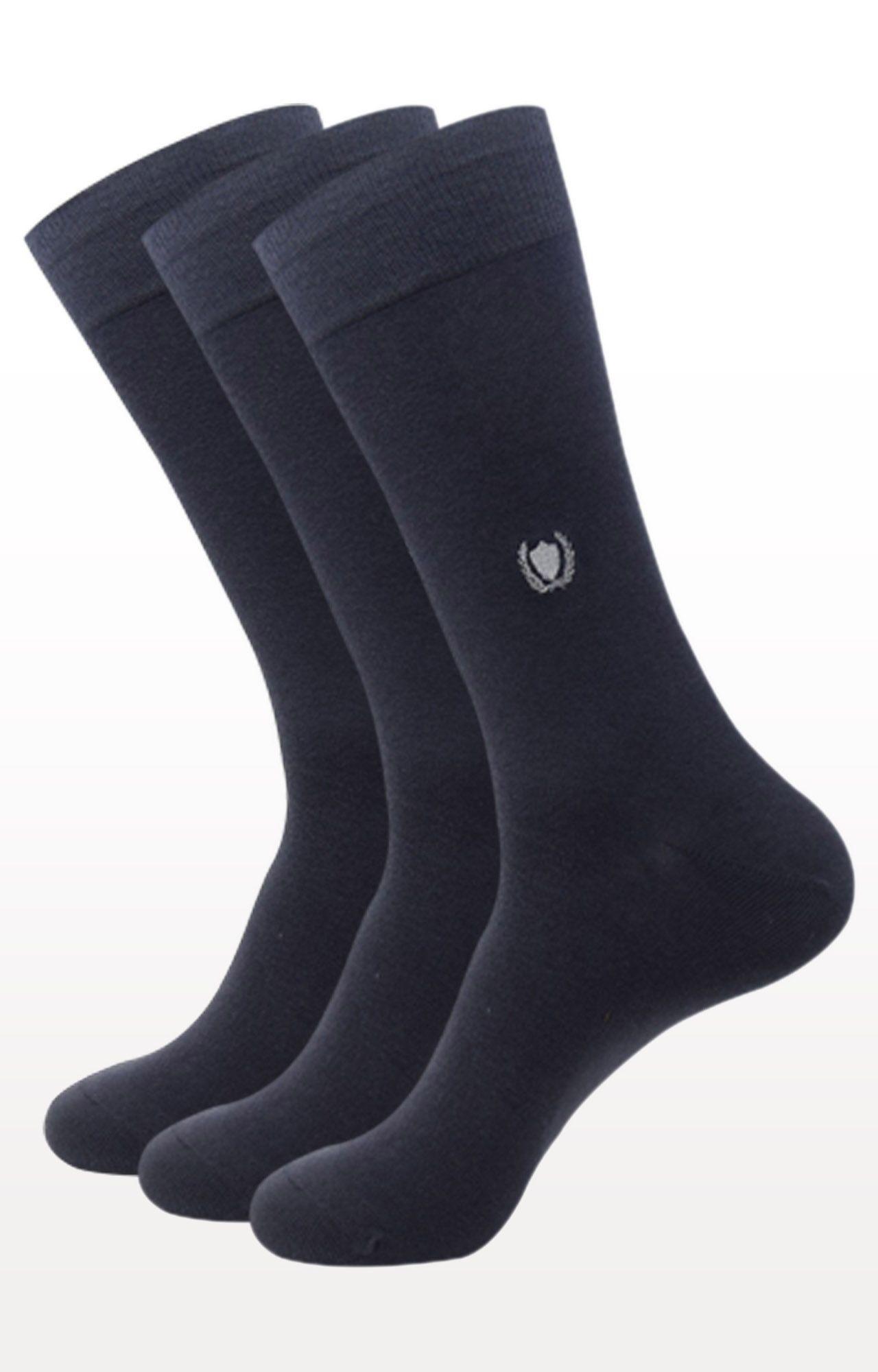 BALENZIA | Dark Grey Solid Socks - Pack of 3