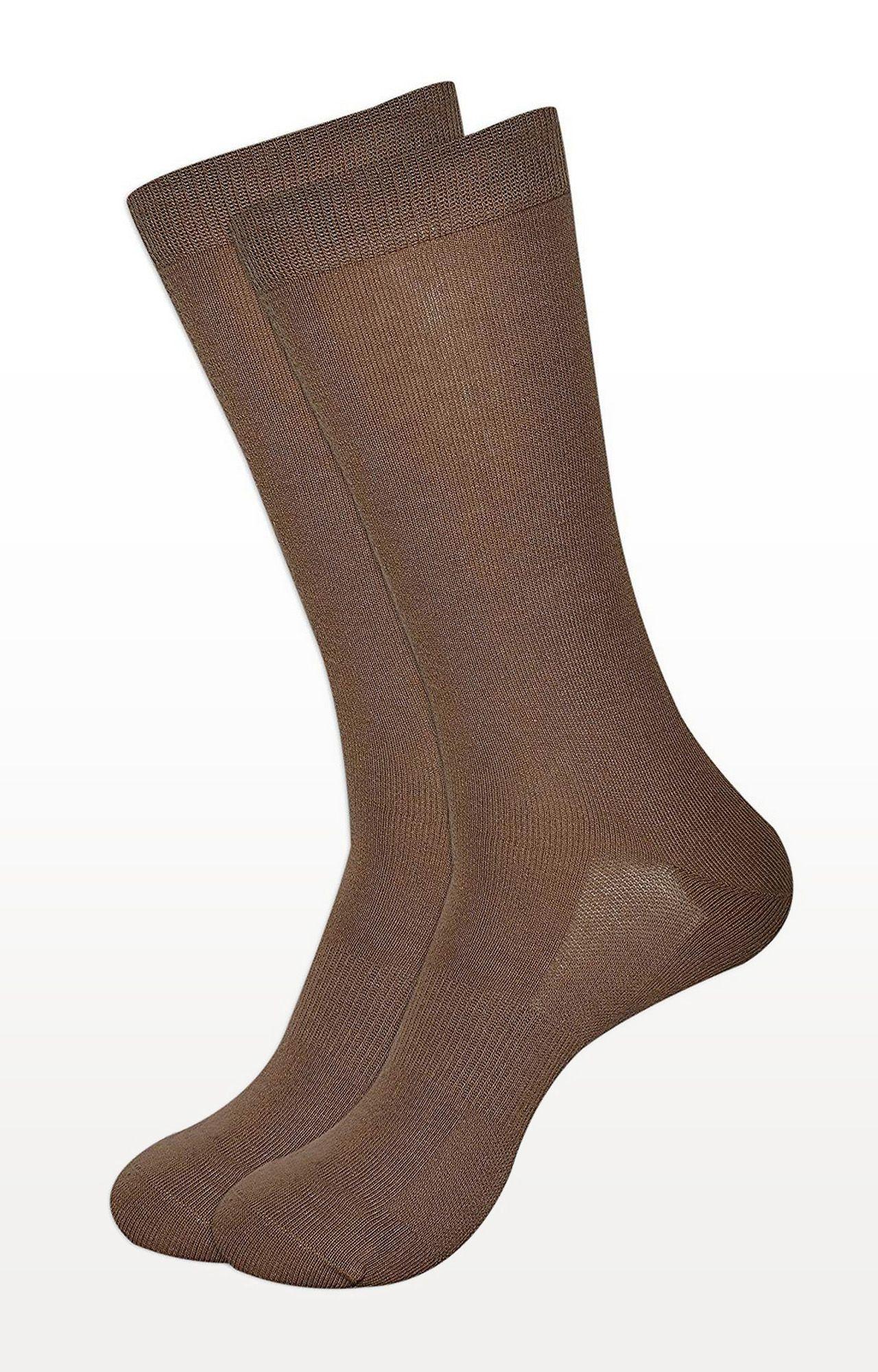BALENZIA   Brown Solid Socks - Pack of 2