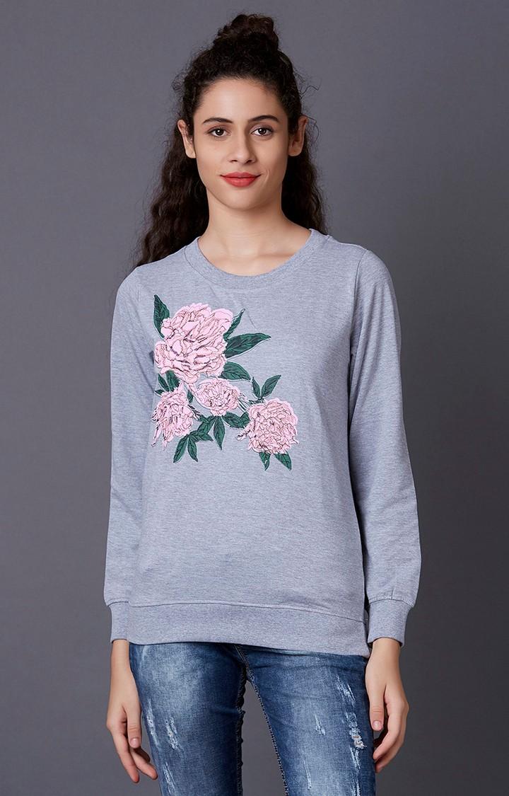 MARCA DISATI | Grey Printed Sweatshirt