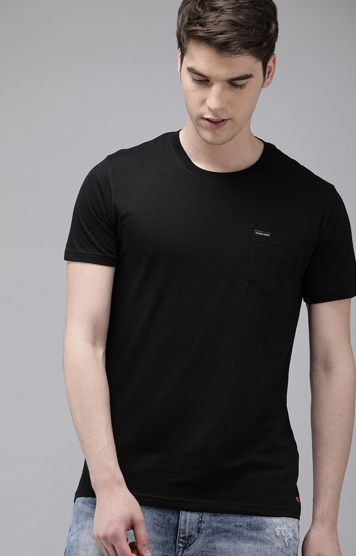 The Bear House | Black Solid T-Shirt