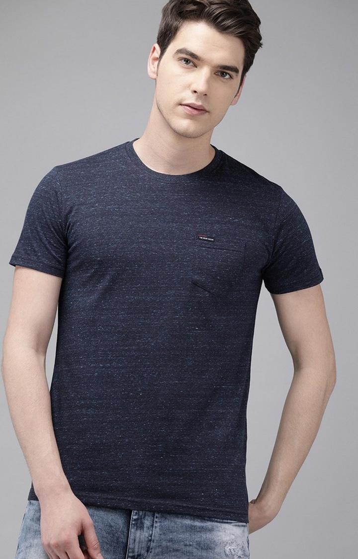 The Bear House   Blue Printed T-Shirt