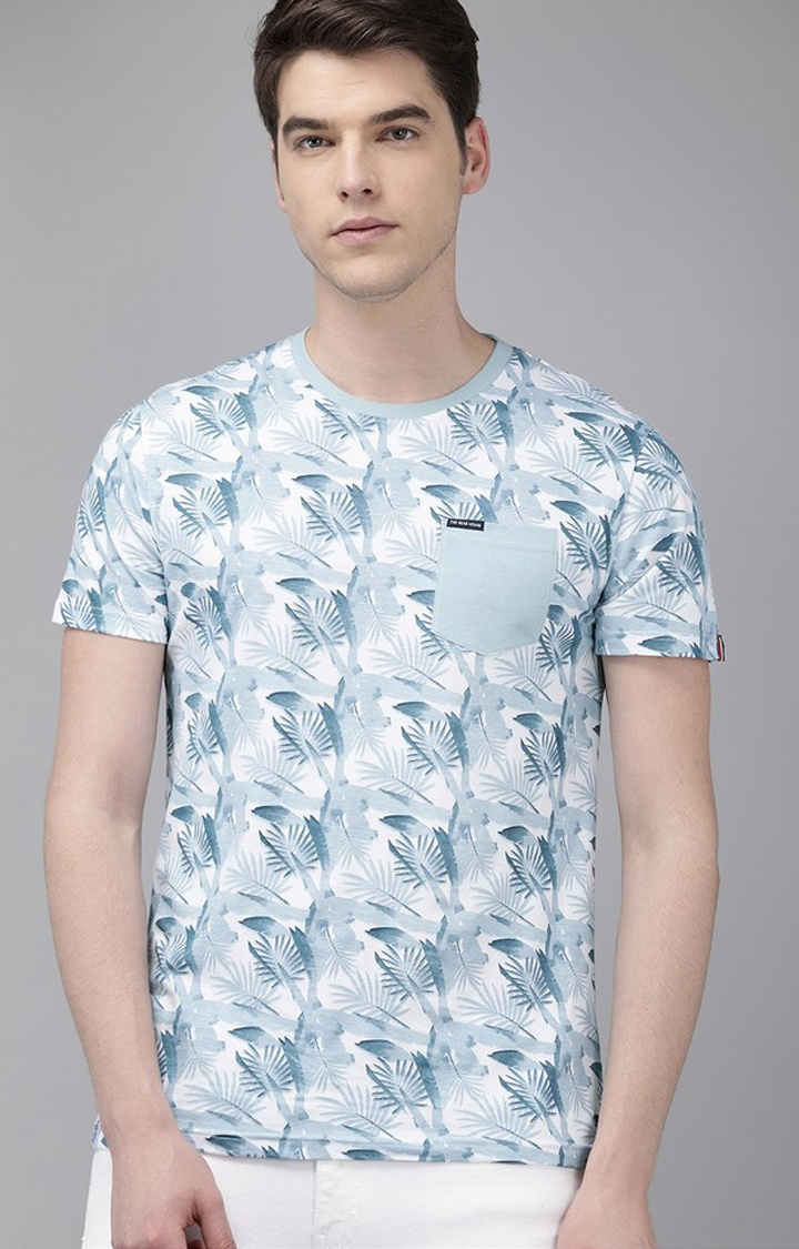 The Bear House | Blue Printed T-Shirt