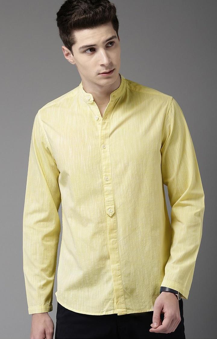 The Bear House | Yellow Melange Formal Shirt