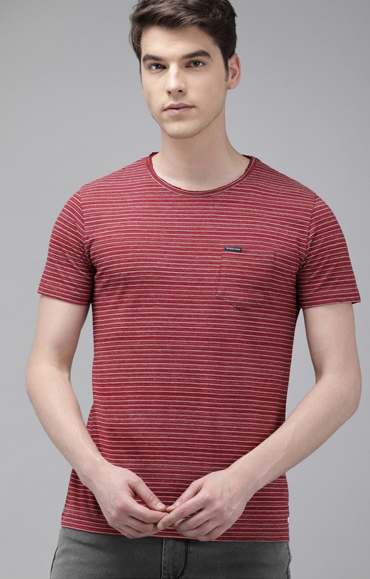 The Bear House | Maroon Striped T-Shirt