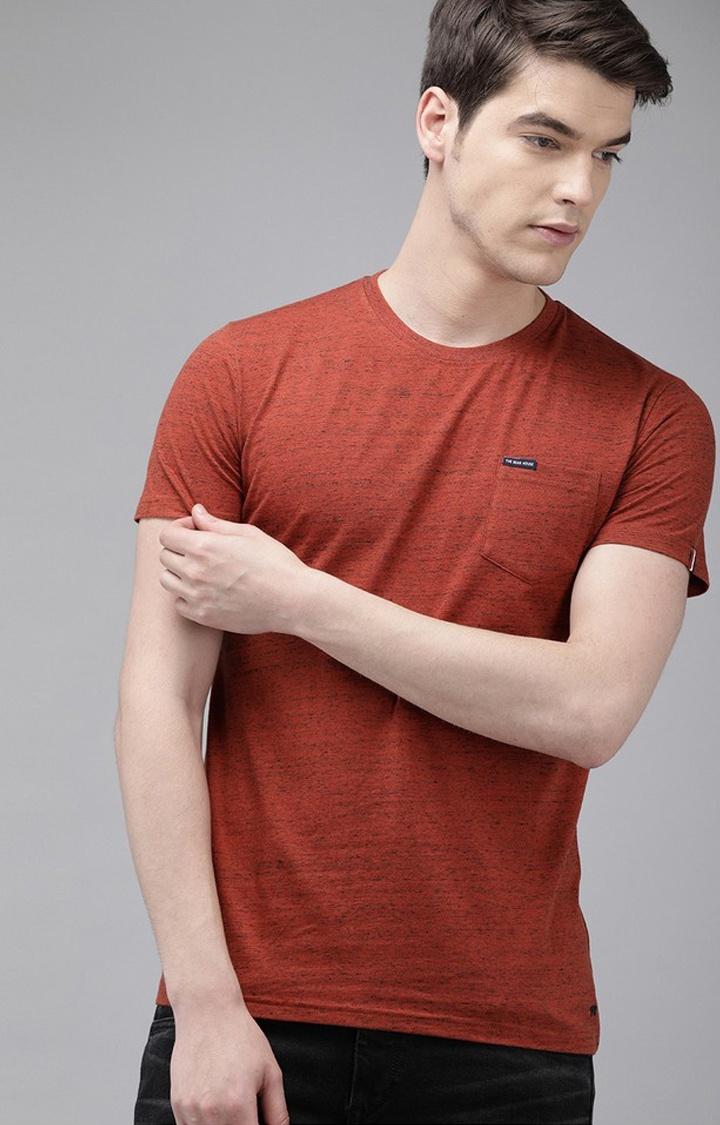 The Bear House | Orange Printed T-Shirt
