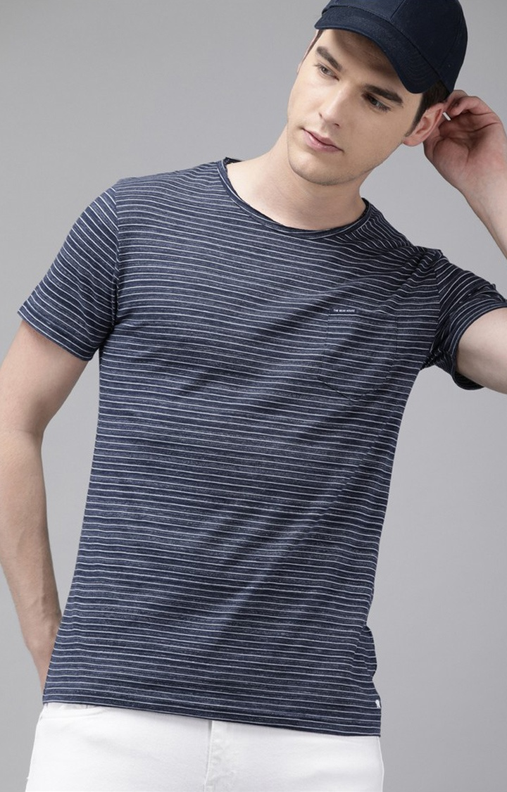 The Bear House | Blue Striped T-Shirt