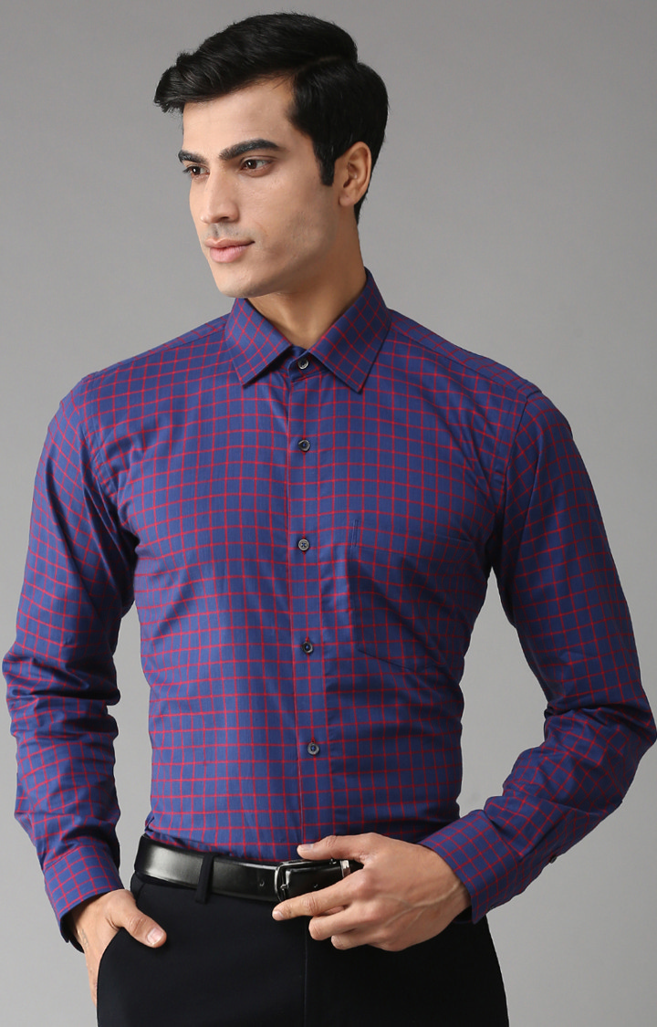 Eppe | Blue Checked Formal Shirt