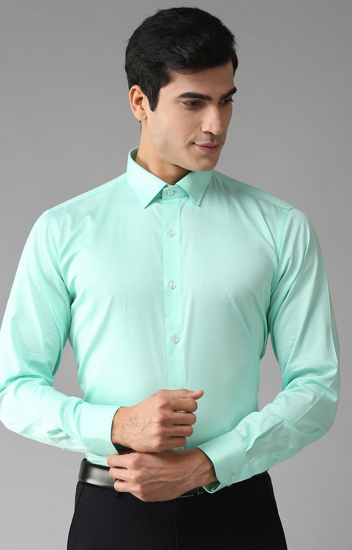 Eppe | Green Solid Formal Shirt