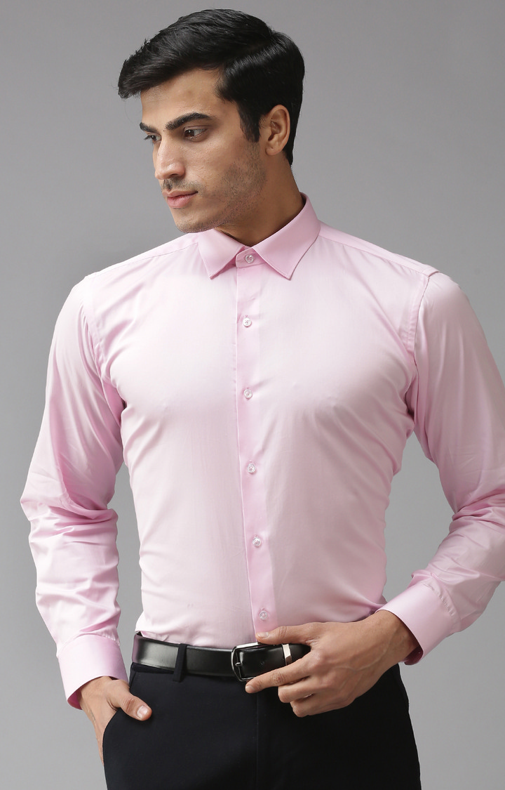 Eppe | Pink Solid Formal Shirt