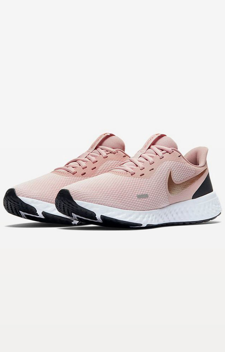 Nike Peach Wmns Revolution 5 Running Shoes