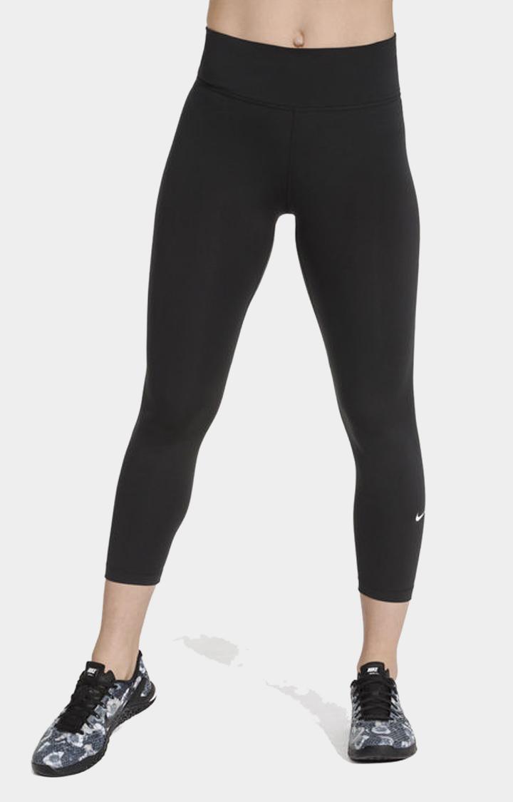 Nike   Nike Black Solid One Tights
