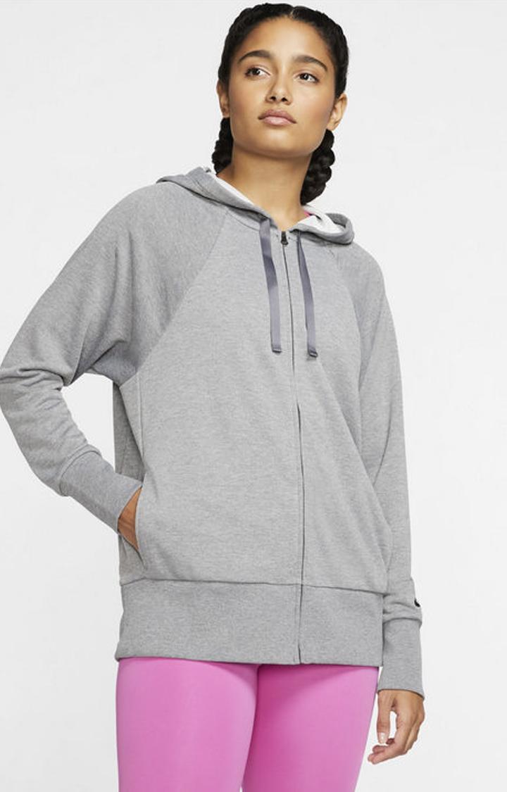 Nike | Nike Grey Melange Dri-Fit Get Fit Hoodie