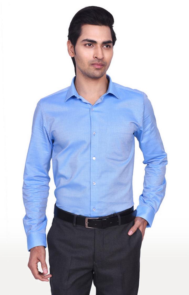 Turtle   Blue Solid Formal Shirt