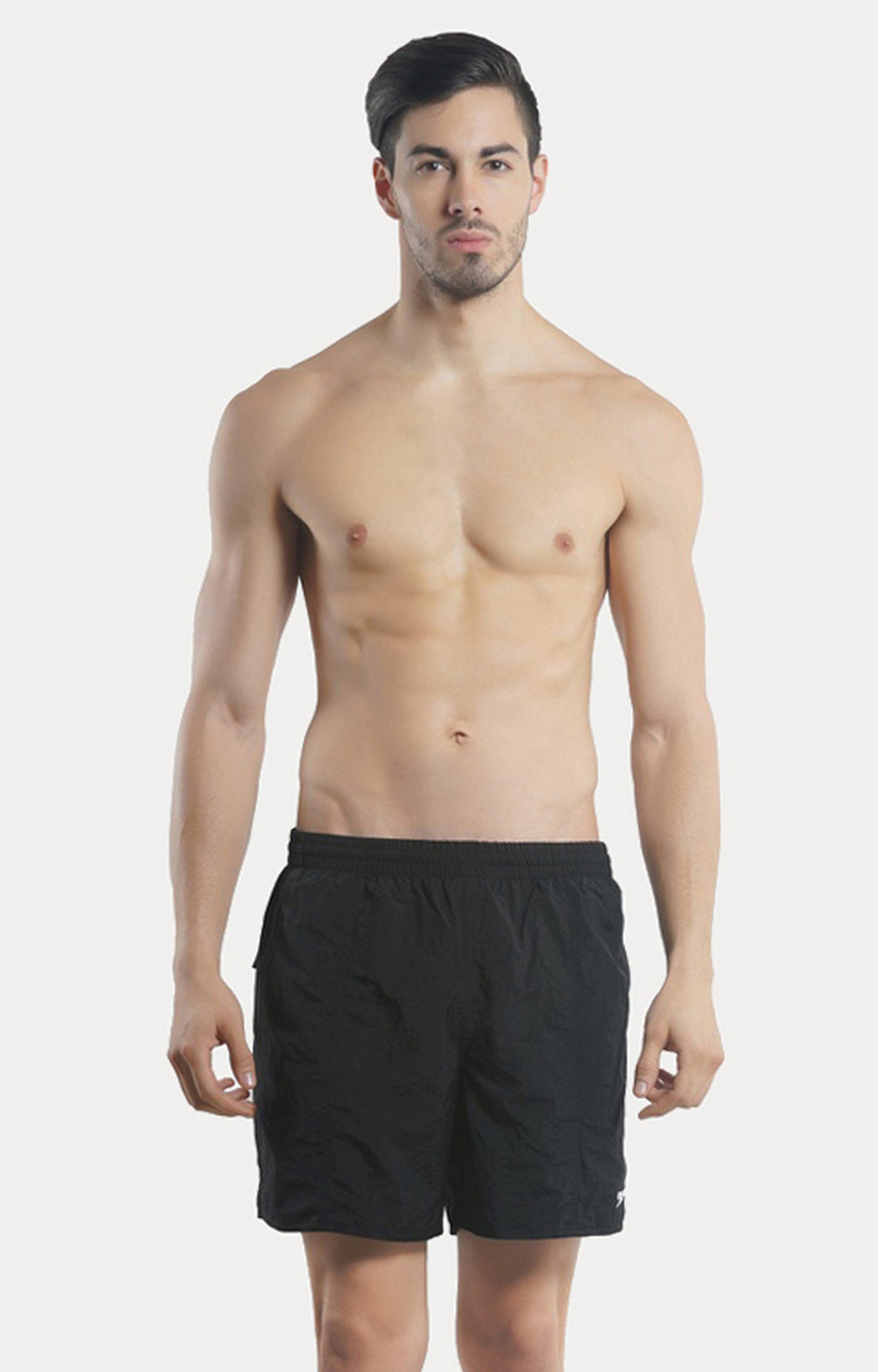 Speedo   Black Solid Boardshorts