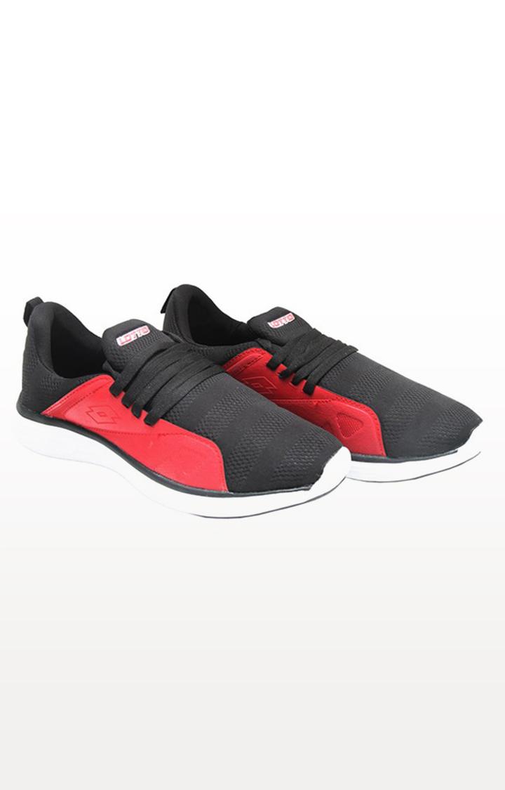 Lotto   Lotto Men's Pubzee Sl Black/Red Walking Shoes Shoes