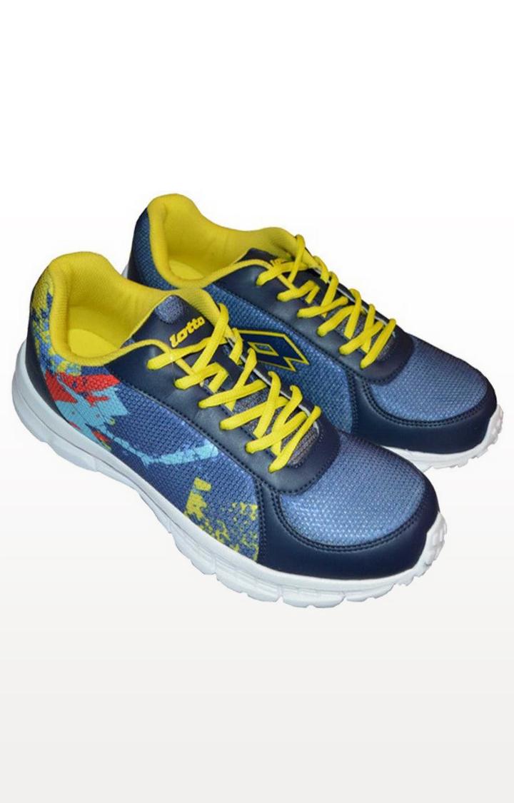 Lotto   Lotto Men's Portlane Subli Blue/Yellow/Blue Running Shoes