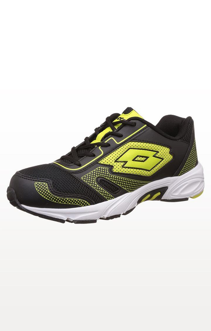 Lotto | Lotto Men's Dynamo Black/Yellow Running Shoes