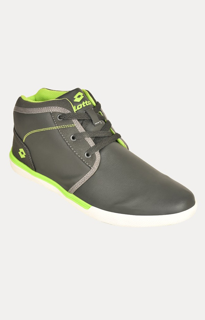 Lotto   Lotto Men's Sum Hi Dk. Grey/Neon Green Lifestyle Shoes