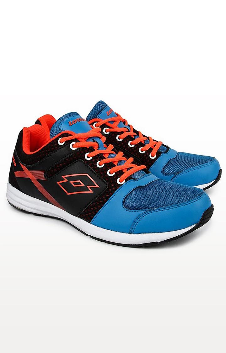 Lotto   Lotto Men's Corsa Acqua Blue/Black/ Orange Lifestyle Shoes