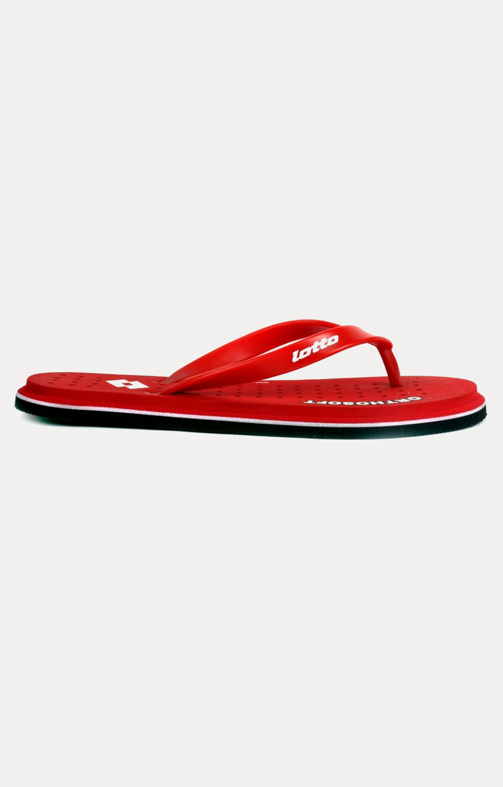 Lotto | Lotto Men's Ortho Soft Red Slippers