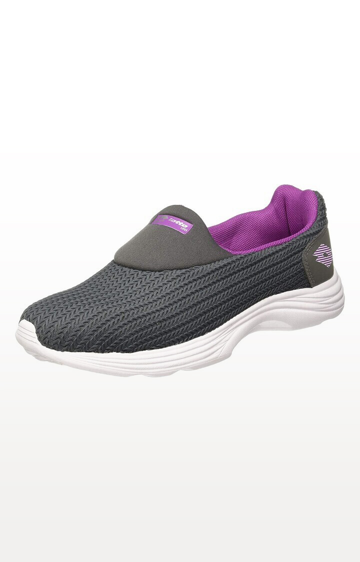 Lotto | Lotto Women's Runlite Slip On Ii Dk Grey/Pink Training Shoes