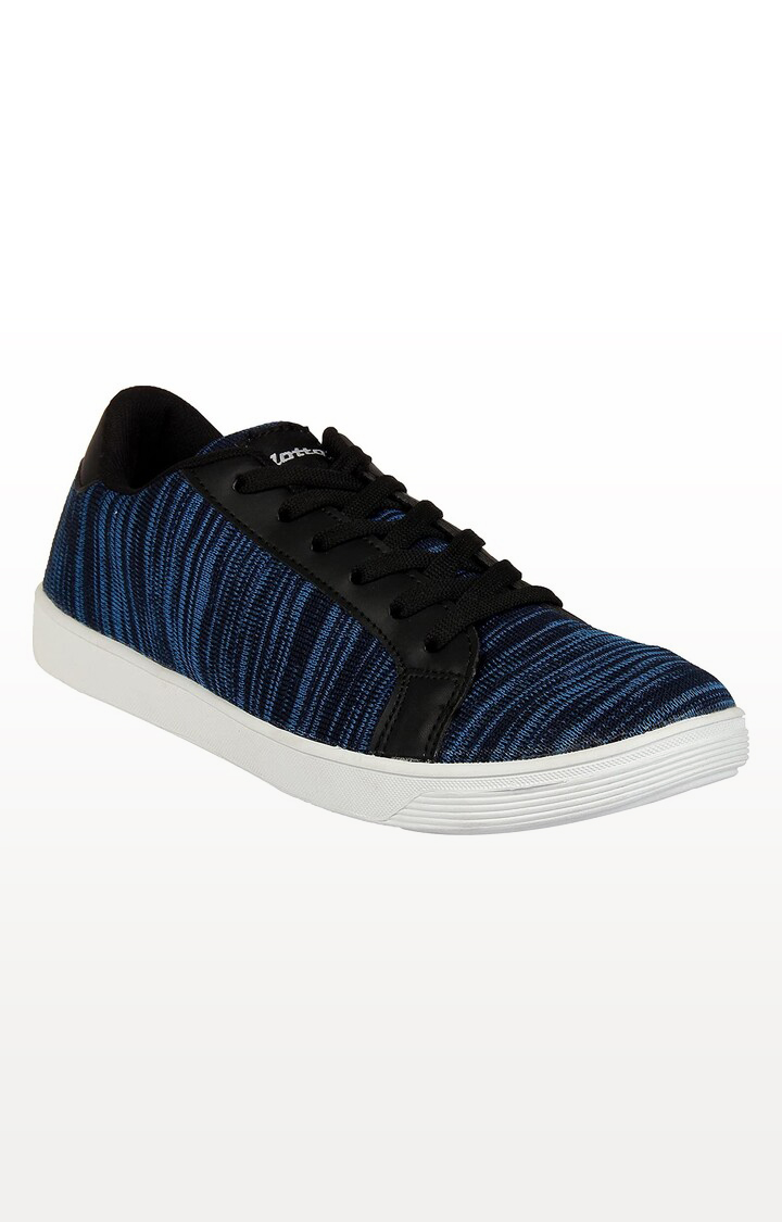 Lotto   Lotto Men's Knitted Sneaker Navy/White Lifestyle Shoes