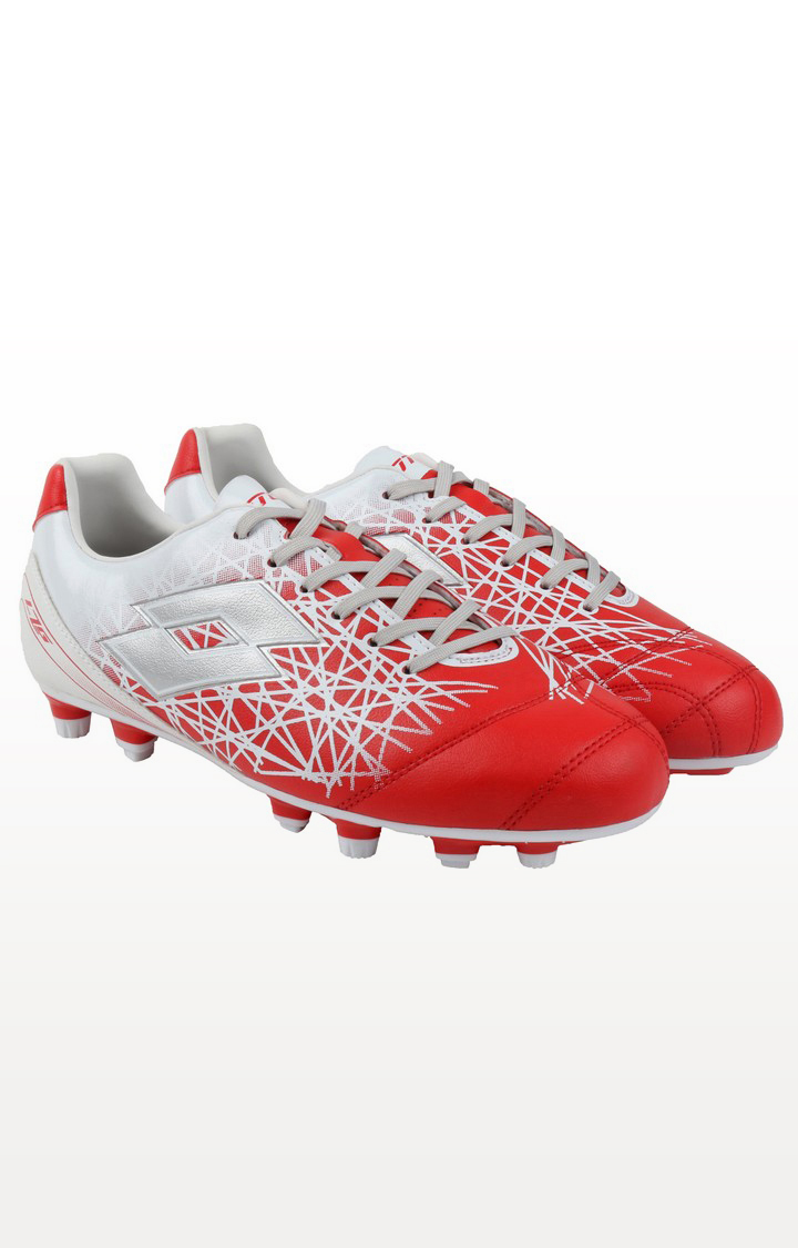 Lotto | Lotto Men's Lzg Xii 700 Fgt Lobster/Silver Metal Football Shoes
